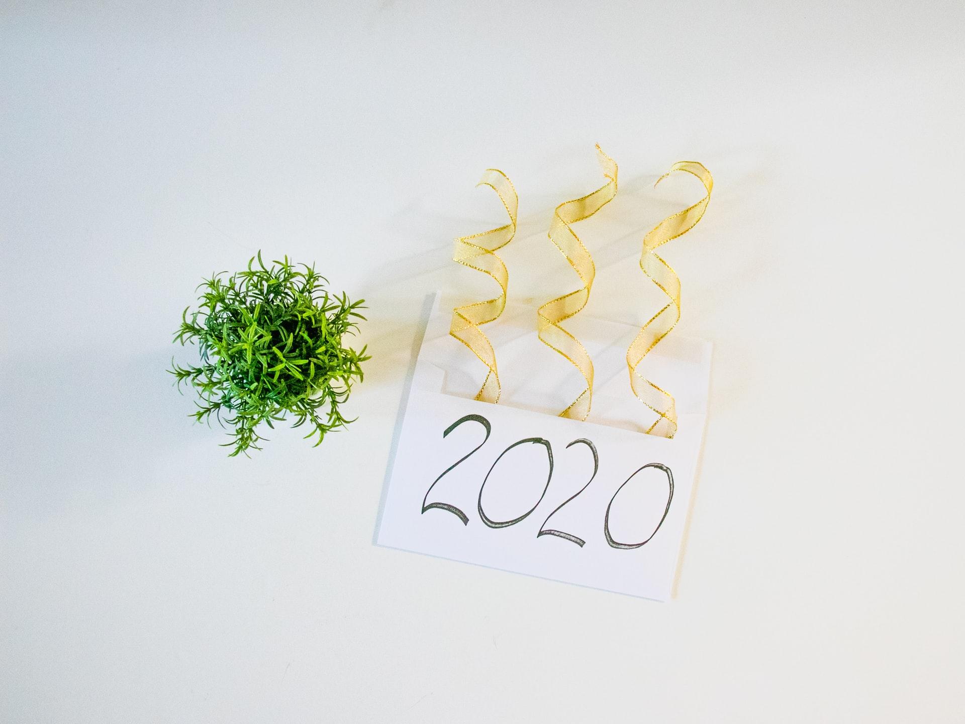 imagem a comemorar o ano 2020