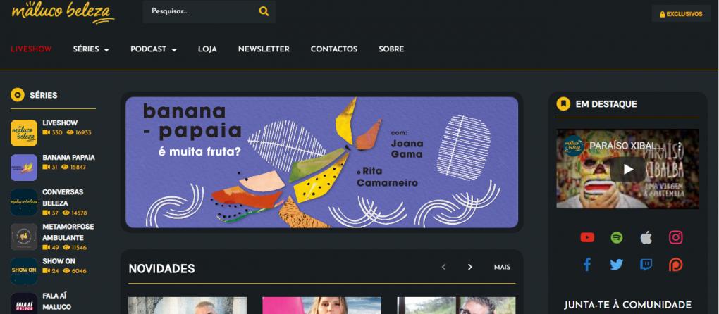 imagem de podcasts portugueses maluco beleza channel