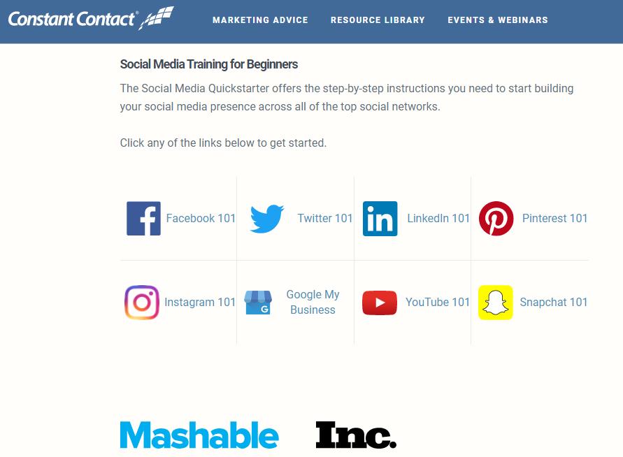 social media 101 constant contact