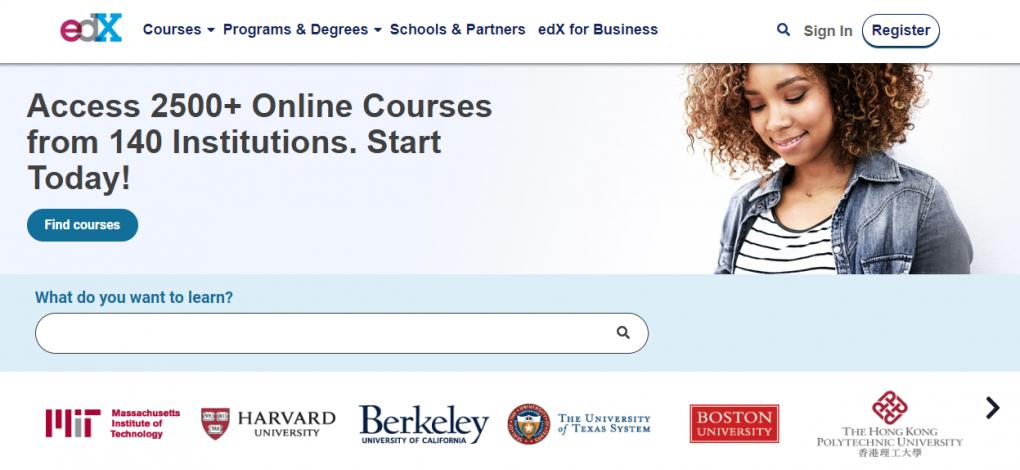 edx um dos sites de cursos online
