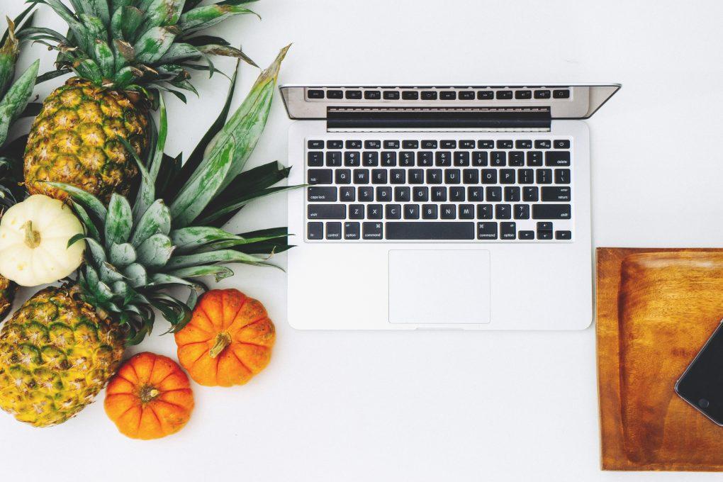 artigos preferidos ananas e computador