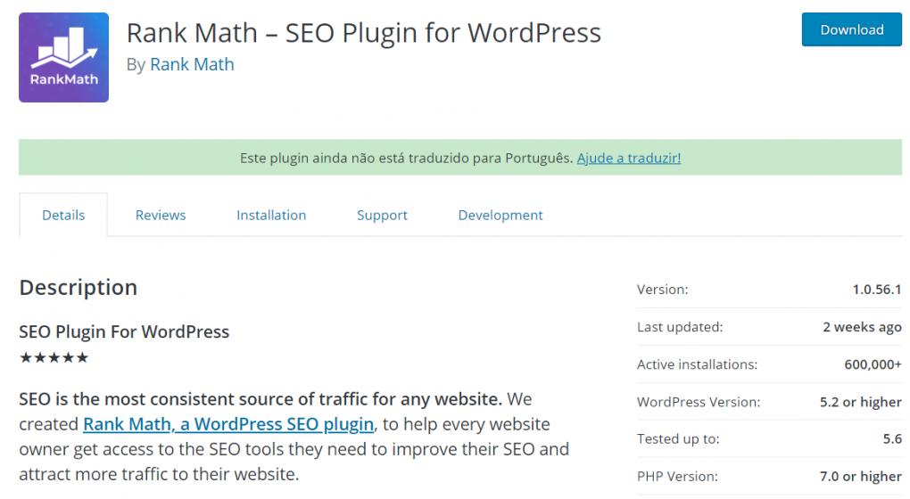 plugin wordpress rank math seo