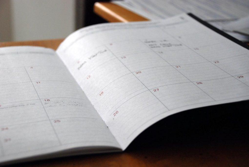 desafio 90 dias calendario aberto em papel