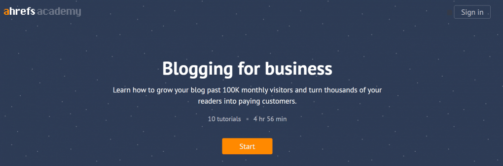 cursos de SEO ahrefs blogging for business
