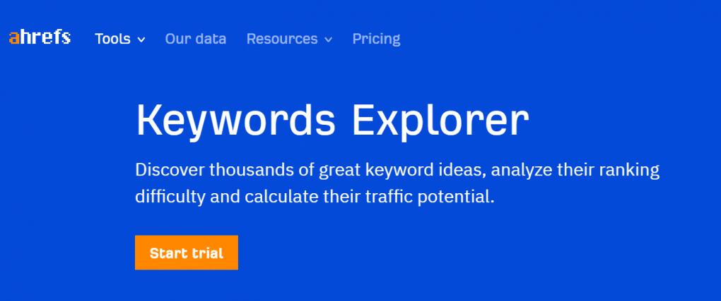 ahrefs ferramenta para pesquisar keywords