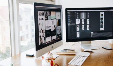 design para redes sociais computador com desenhos