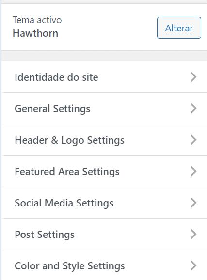usar wordpress personalizaçao do tema